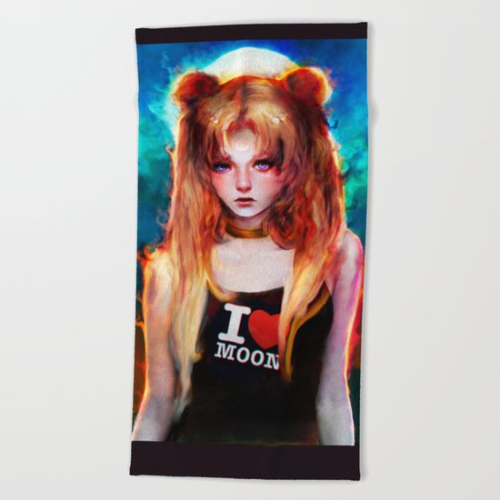 sailor moon Beach Towel