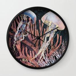 Metallic Coral Wall Clock