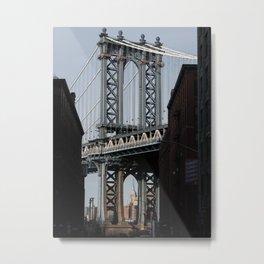 New York City Travel Photo, Wall Art, NYC Night, Minimalist Print, Wall Decor, Williamsburg Bridge, Brooklyn, Landscape Photography Metal Print