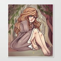 cyarin Canvas Prints featuring Tree Girl by Cyarin