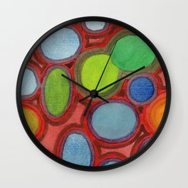 Abstract Moving Round Shapes Pattern Wall Clock