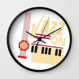 Jazz On Wall Clock