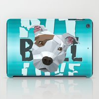 pit bull iPad Cases featuring Pit Bull by Benjamin Ring