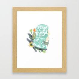favorite friend - warner Framed Art Print