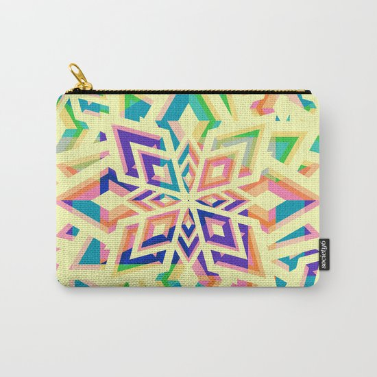Decorative floral pattern for Christmas Carry-All Pouch