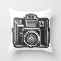 I Still Shoot Film Holga Logo - Black and White Throw Pillow