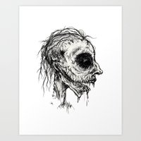 zombies Art Prints featuring Zombies by Renee Michele Andolina