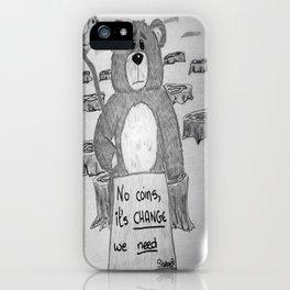 Sad bear 2 iPhone Case
