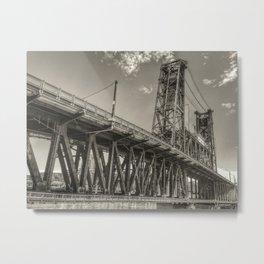 Steel Bridge, Portland Metal Print