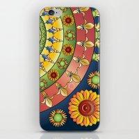 fleur de lis iPhone & iPod Skins featuring Fleur de Lis Mandala by Orison Crafts