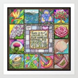 My Patchwork Friendship Squares Art Print
