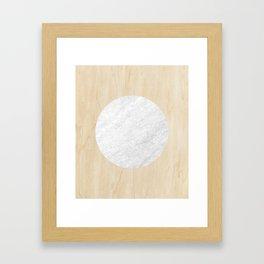 Marble Moon Framed Art Print