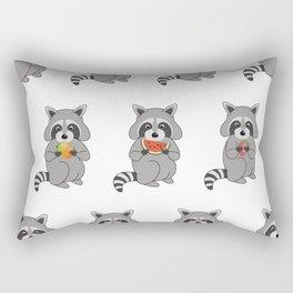 Raccoons with Fruit Rectangular Pillow