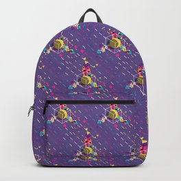 Colorful ornaments with feathers Backpack