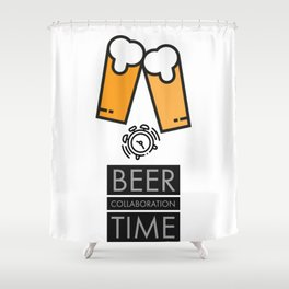 Beer Collaboration Time Shower Curtain