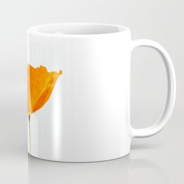 One And Only - Orange Poppy White Background #decor #society6 #buyart Coffee Mug