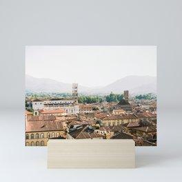 Lucca | Travel photography Italy | Wanderlust city architecture photo art | Tuscany Mini Art Print