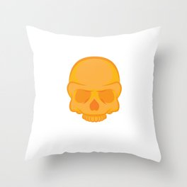 Spooky Creepy Gift Awesome Skull Face Skeleton Halloween Party Throw Pillow
