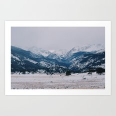 Lonely valley Art Print
