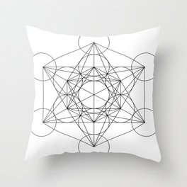 Sacred Geometry : Metatron's Cube / The Map of Creation Throw Pillow