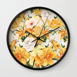 Wordsworth  and the daffodils. Wall Clock