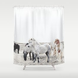 WILD AND FREE  1 - HORSES OF ICELAND Shower Curtain