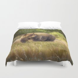 Brown Bear in Alaska Duvet Cover
