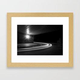 At the speed of light Framed Art Print