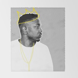 King Kendrick Throw Blanket