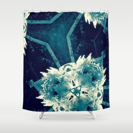 All About Blue Shower Curtain