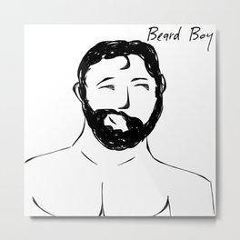Beard Boy 6 Metal Print