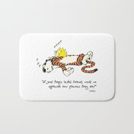 Calvin And Hobbes Quote Bath Mat