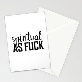 spiritual as fuck Stationery Cards