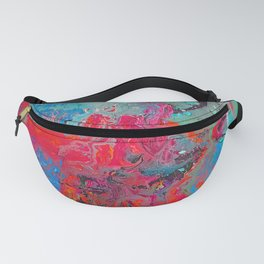 Heaven Rejoices Multi Colored Abstract Luke 15:7 Fanny Pack