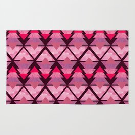 Geometric Forest on Pink Rug