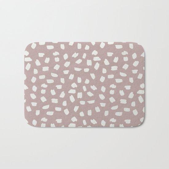 Simply Ink Splotch Lunar Gray on Clay Pink Bath Mat