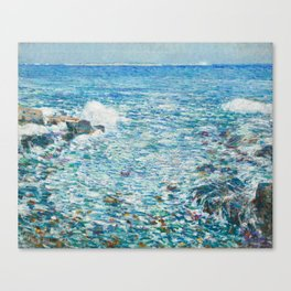 Surf, Isles of Shoals by Childe Hassam Canvas Print