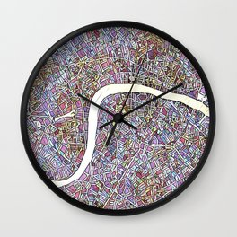 London Color Variation 1 Wall Clock