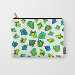 Green beautiful hand drawn gems. Carry-All Pouch