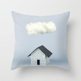 A cloud over the house Throw Pillow