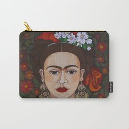 Frida with butterflies Carry-All Pouch