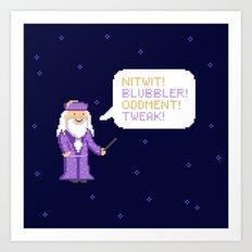 Pixel Wizard Art Print