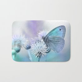 Butterfly blue 71 Bath Mat