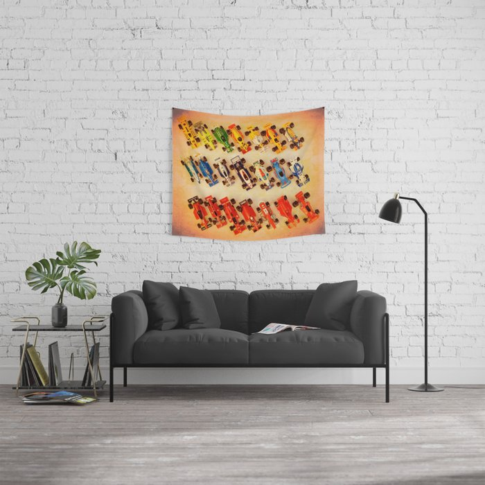 RACE CARS Wall Tapestry