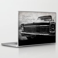 kerouac Laptop & iPad Skins featuring Shiny Car in the Night by Bella Blue Photography