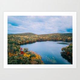 ColorFall Lake Art Print