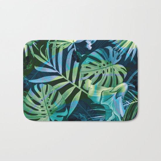 Tropical fiesta - moonlit Bath Mat