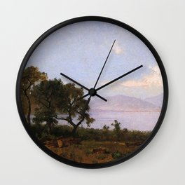 Morning Clear Lake 1876 By Thomas Hill   Reproduction Wall Clock