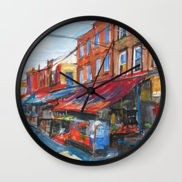 Philadelphia Italian 9th Street Market Wall Clock