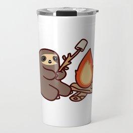 Campfire Sloth Travel Mug